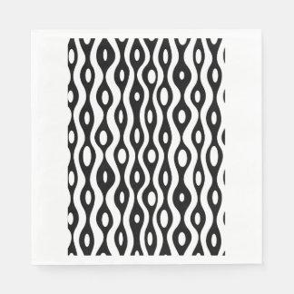 Organic black and white paper napkin