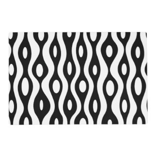 Organic black and white placemat