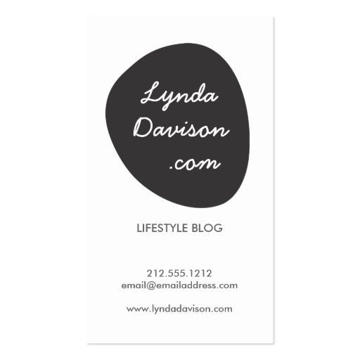 organic black shape logo modern business card zazzle