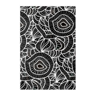 Organic Black & White Repeat Pattern Acrylic Print