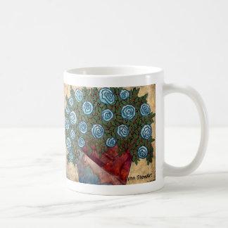 Organic Blue Blossom Coffee Mug