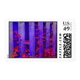 organic blue postage stamp
