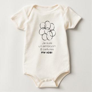 Organic bodystocking. Embryo 8 cells ICSI Baby Bodysuit