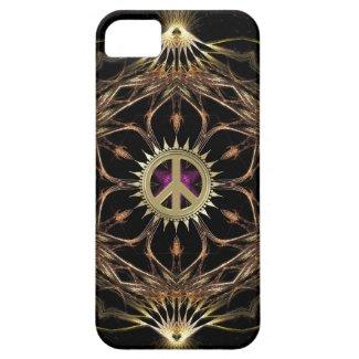 Organic Bohemian Peace Flower iPhone 5 Case