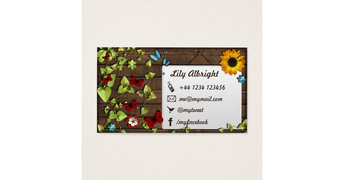 Organic business card social media icons zazzle for Free social media icons for business cards