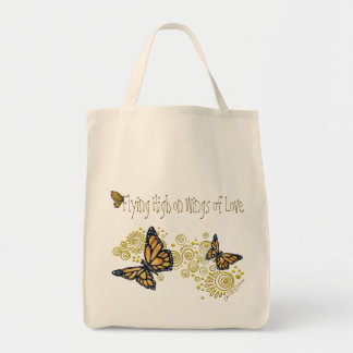 Organic Butterfly Grocery Tote Bag