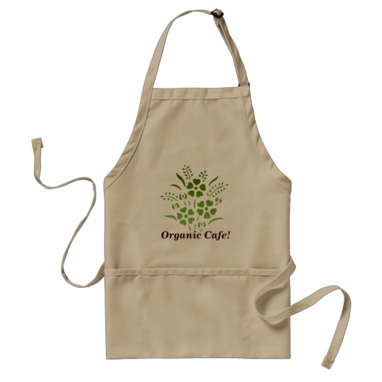 Organic Cafe! Adult Apron
