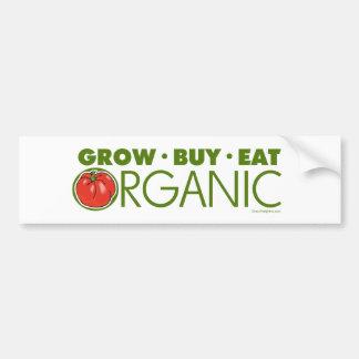 Organic Car Bumper Sticker