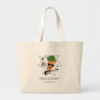 Organic Carrots Rock Jumbo Tote Bag