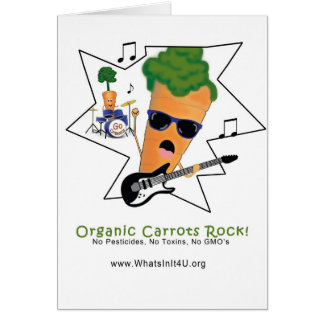 Organic Carrots Rock Greeting Card