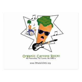 Organic Carrots Rock Postcard