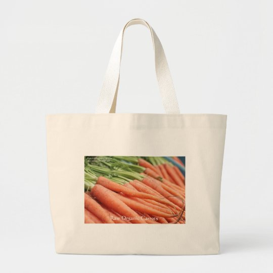 Organic Carrots Tees Mugs Cards & Other Gifts Large Tote Bag