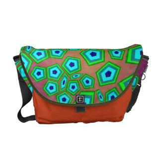 Organic Cellular Art Pattern Messenger Bags