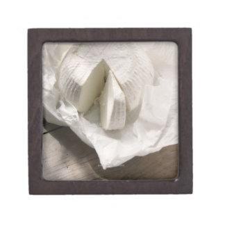 organic cheese unwrapped and cut keepsake box