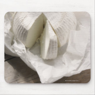 organic cheese unwrapped and cut mouse pad