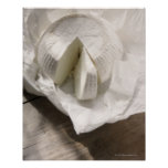 organic cheese unwrapped and cut poster