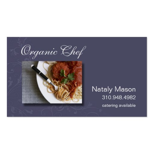 Quotorganic chefquot catering healthy eating nutrition for Nutrition business cards