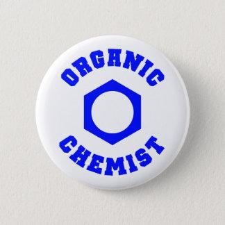Organic Chemist (blue) Pinback Button