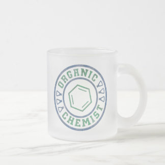 Organic Chemist Frosted Glass Coffee Mug