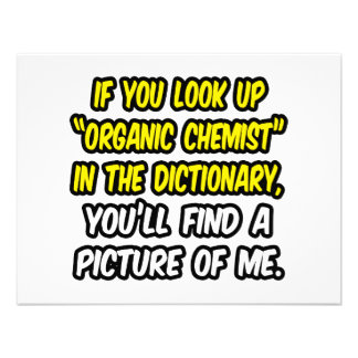 Organic Chemist In Dictionary...My Picture Personalized Invites