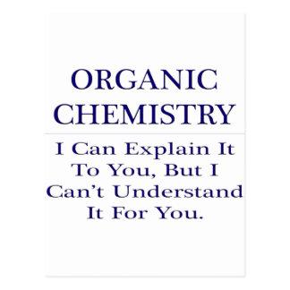 Organic Chemist Joke .. Explain Not Understand Postcard