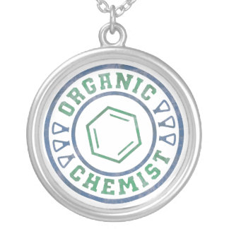 Organic Chemist Silver Plated Necklace