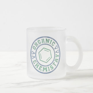 Organic Chemistry Frosted Glass Coffee Mug