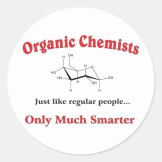 Organic Chemists just like regular people Classic Round Sticker