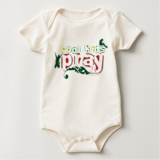 Organic Christian baby vest - Cool kids pray Creeper