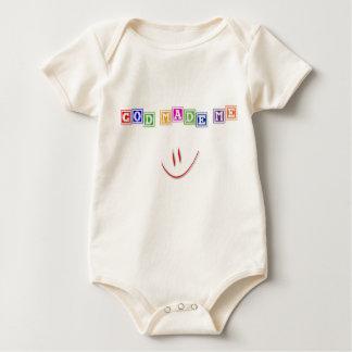 Organic Christian baby vest - God Made Me Creeper