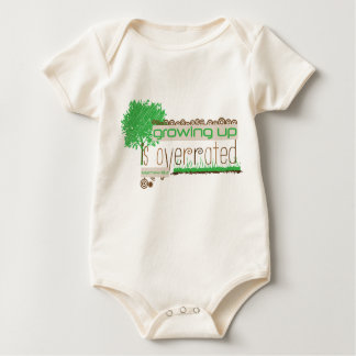 Organic Christian baby vest - Growing up Baby Bodysuit