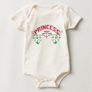 Organic Christian baby vest - Princess Creeper