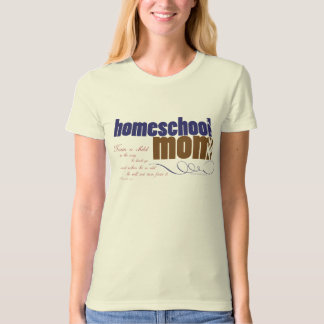 Organic Christian homeschool tee - Homeschool Mom