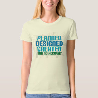Organic Christian shirt: Planned Designed Created Shirt