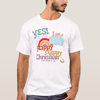 Organic Christian t-shirt: Happy Clappy Christian T-Shirt