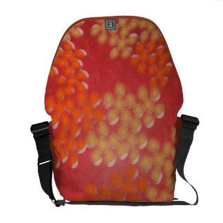 Organic Circular Pattern Courier Bag