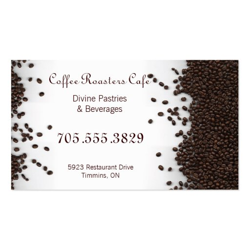 Organic Coffee House Cafe Restaurant Business Card (back side)