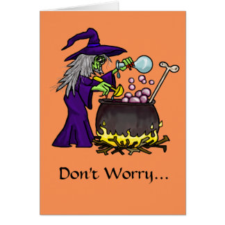 Organic Cooking Funny Halloween Card