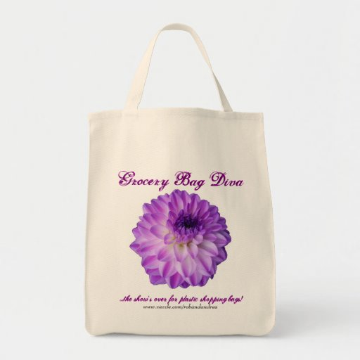 "Organic Cotton Grocery Bag - ""Grocery Bag Diva"""