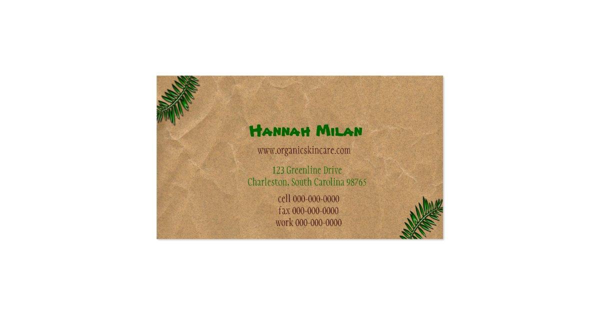 Organic dark brown paper business card zazzle for Brown paper business cards