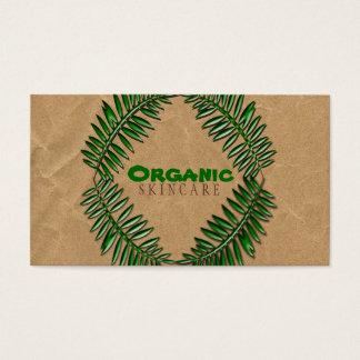 Organic  Dark Brown Paper Business Card