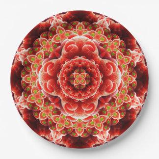 Organic Dimension Mandala Paper Plate