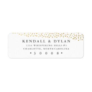 Organic dots faux foil return address label