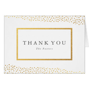 Champagne thank you notes gifts on zazzle organic dots faux foil thank you note card thecheapjerseys Image collections
