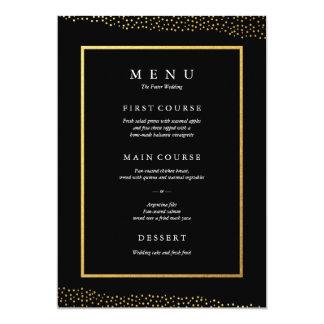 Organic dots faux foil wedding menu card