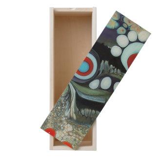 organic dots, photography, red, colorful, abstract wooden keepsake box