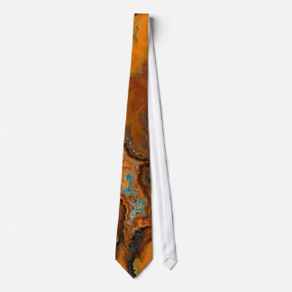 Organic Earthy Oil Painted Abstract Art Fashion Neck Tie