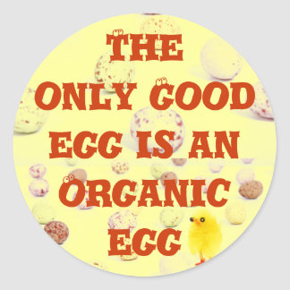 Organic egg stickers