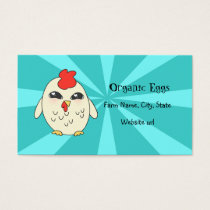 """Organic Eggs"" Cute Chicken Business Card"