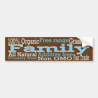 Organic Family Bumper Sticker